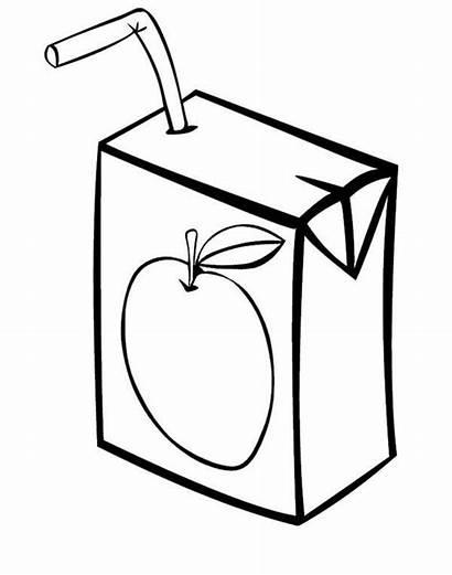 Juice Clipart Drawing Coloring Apple Colorear Orange