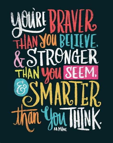 braver stronger smarter by matthew taylor wilson inspirational quote word art print