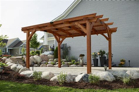 redwood sonoma wood pergola kit  outdoor greatroom