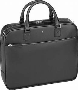 montblanc sartorial small leather document case in black With montblanc document case