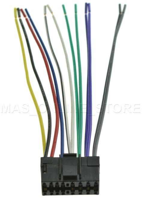 Jvc Kw Xr610 Wiring Diagram by Wire Harness For Jvc Kd G230 Kdg230 Pay Today Ships Today