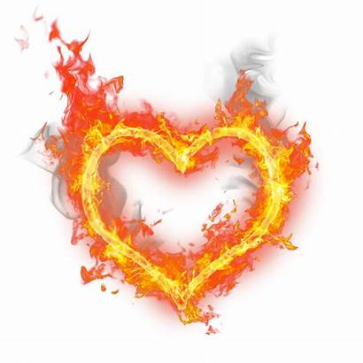 Burning Heart Fire Transparent Border Clipground Flame