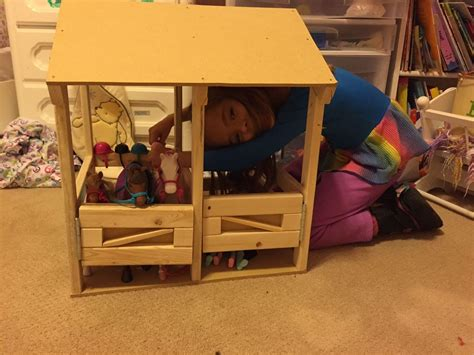ana white doll sized horse stable diy projects