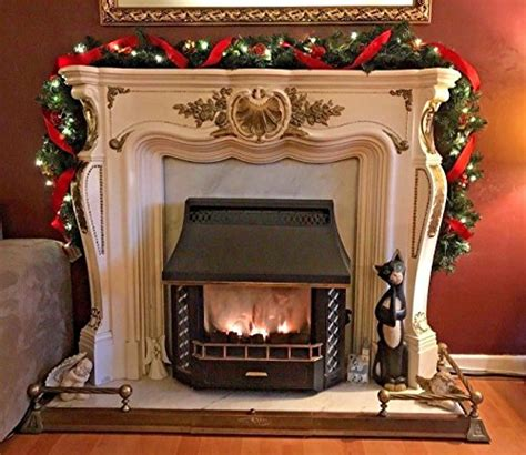 pre lit fireplace garland pre lit pre lit 2 7m luxury thick fireplace garland gold 9ft 40 led lights buy