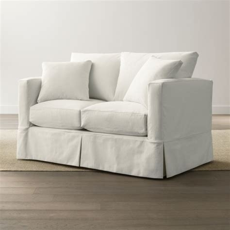 Willow Loveseat by Slipcover Only For Willow Loveseat Snow Crate And Barrel