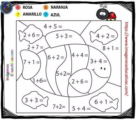 COLOREAR POR NÚMEROS SUMAS Y RESTAS (7) Imagenes Educativas