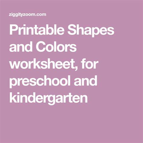 shapes colors worksheet  images color