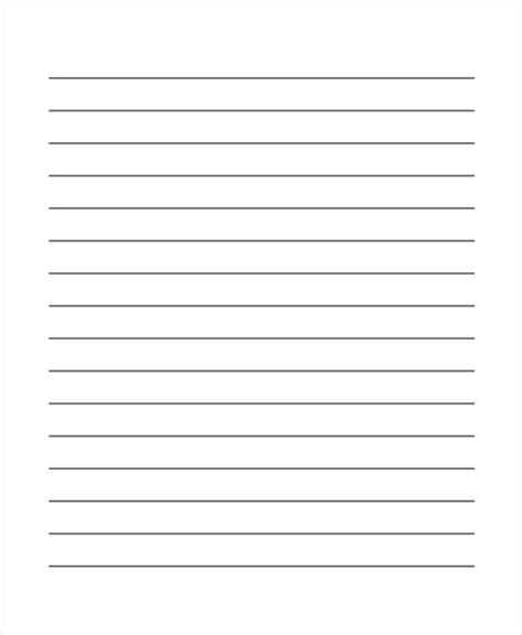 Handwriting Lines Template by 29 Printable Lined Paper Templates Free Premium Templates