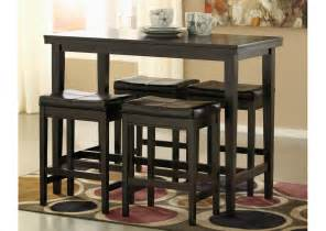 furniture simple and small rectangular pub table in black