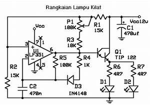 elektronika rangkaian elektronika With led 1 connected to pin 2 led 2 to pin 3 led 3 to pin 4 the r1 r2 r3