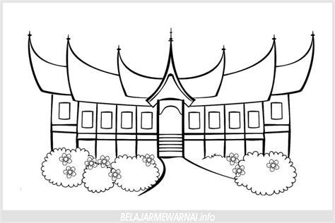 belajar mewarnai gambar rumah untuk tk paud