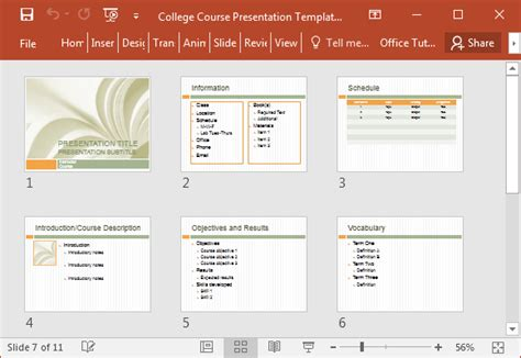 college   template  powerpoint