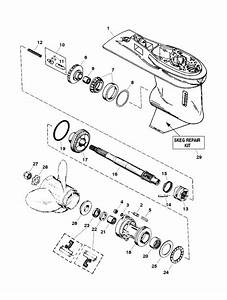 Force 120 Hp  1998  Gear Housing Assembly  Propshaft  Parts