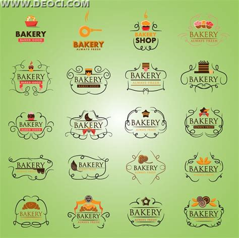 16 Bakery Templates Psd Eps Cdr Format 20 Baked Breakfast Food Label Design Template Eps