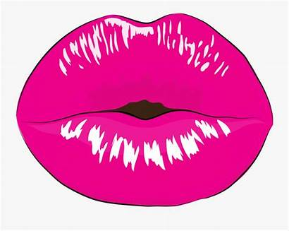 Lips Clipart Pink Gloss Smile Clipartkey