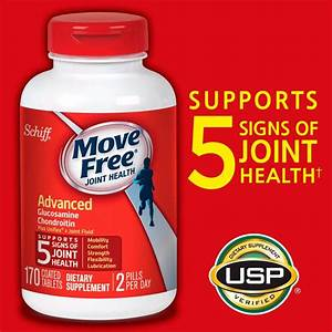 Schiff Move Free Advanced Triple Strength Glucosamine Chondroitin 170 Tablets 20525116017