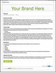 job ads that work how to write a job posting With job ad templates