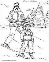 Coloring Pages Skiing Ski Sports Printable Sheets Found sketch template