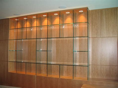 Custom Made Glass Shelves With No Hardware By Perfection