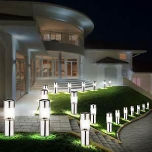20 x led solar edelstahl garten geh weg haus spot strahler With französischer balkon mit strahler garten