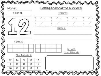 Number Recognition Worksheets 1120 By Fables From My Kitchen Table