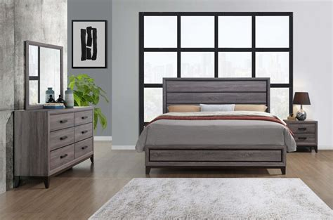 kate beech wood grey bedroom set bedroom furniture sets