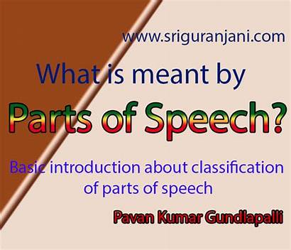 Speech Parts English Meant