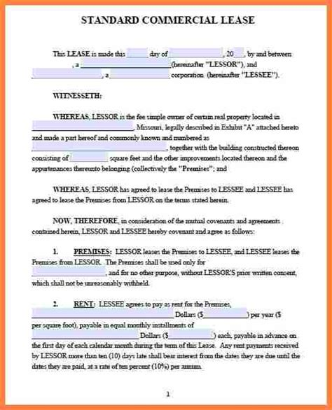 Commercial Sublet Lease Agreement Template by 9 Commercial Sublet Lease Agreement Template Purchase