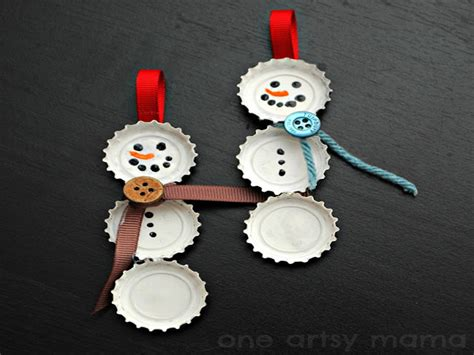 6 simple recycled holiday ornaments you can make with your kids inhabitots