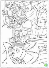 Coloring Three Barbie Musketeers Dinokids Close sketch template