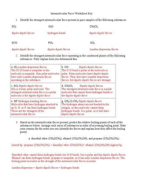 polar and nonpolar molecules worksheet free printables worksheet