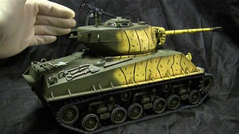 tamiya  scale mae korean war sherman tank model showcase video youtube
