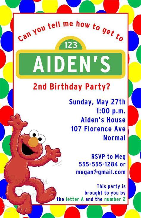 sesame invitations template sesame birthday invitations birthday invitations