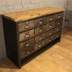 Meuble à Tiroir : mobilier industriel ancien meuble industriel tiroirs ~ Melissatoandfro.com Idées de Décoration