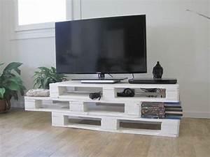deco et meubles tv fabriques avec des palettes de bois 20 With fabriquer meuble tele avec palettes