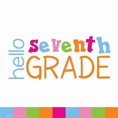 Grade Clip Middle Seventh 7th Hello Supplies
