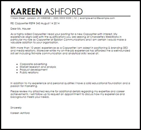 Successful Copywriting Resumes by Copywriter Cover Letter
