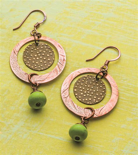 Free Pattern Disc Cutter Earrings  Jewelry Making Blog