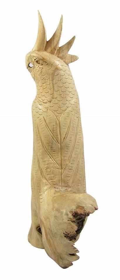 Blossom Wood Cockatoo Carving Wish