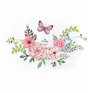Spring Florals SVG clipart, watercolor flowers svg, , Boho