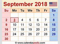September 2018 Calendar Template monthly calendar 2017