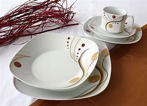 Teller Set Günstig : 42 tlg tafelservice teller set porzellan geschirr set ess service 6 personen ebay ~ Orissabook.com Haus und Dekorationen