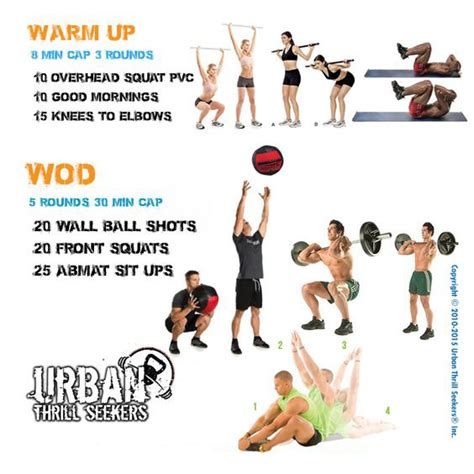 warm squat overhead weighteasyloss crossfit exercises workouts workout wod ball before buttocks fitness after rutinas everyday elbows knees enregistree depuis