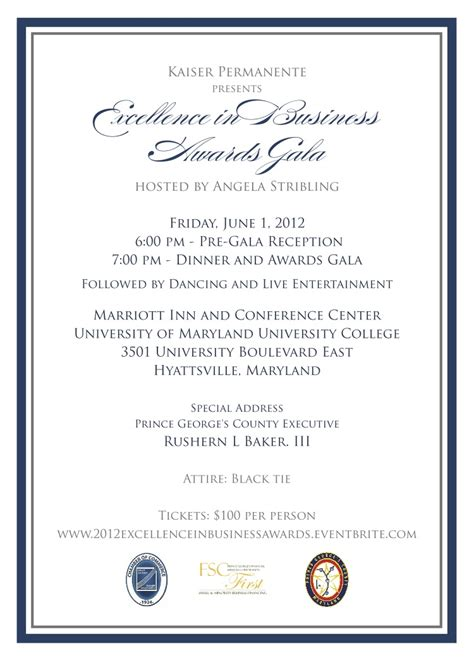 2012 Excellence in Business Awards Gala June 1 2012