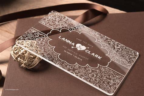 Fancy clear acrylic wedding invitation Lanna & Clark