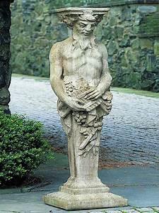 campania, tall, satyr, garden, statue, s