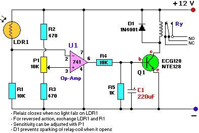Light Dark Sensor Circuit Reuk