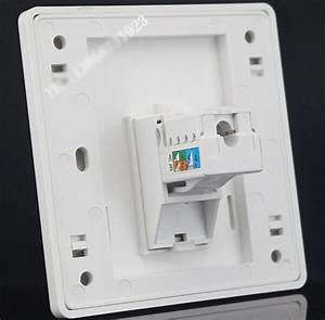 Wall Socket Plate Single Port Cat6 Network Lan Rj45 Outlet