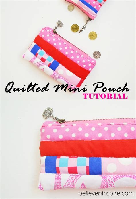 mini quilted pouch tutorial simple sewing projects