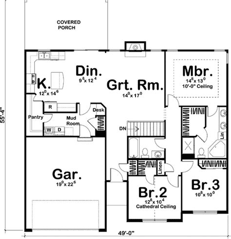 simple single story home plan dj architectural designs house plans